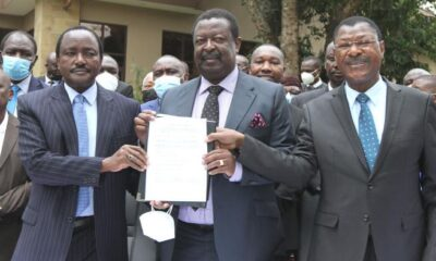 President Uhuru Meets Raila, One Kenya Alliance Leaders At State House - Mombasa